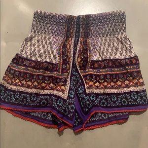 Smocking Print Shorts